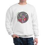 Alien on Hovercraft Sweatshirt