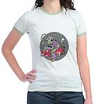 Alien on Hovercraft Jr. Ringer T-Shirt