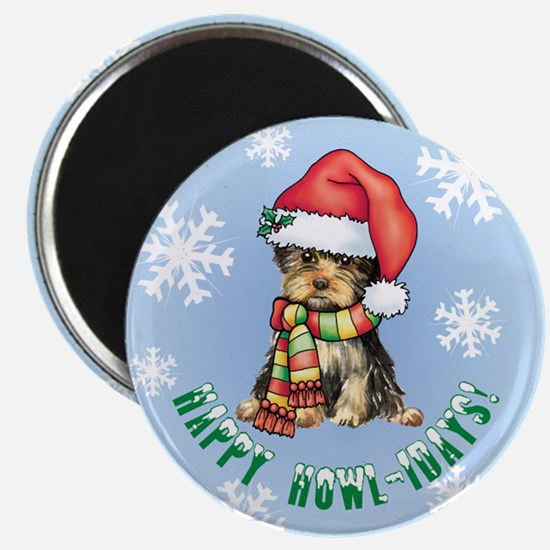 Holiday Yorkie Magnet