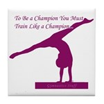 Gymnastics Tile Coaster - Champion