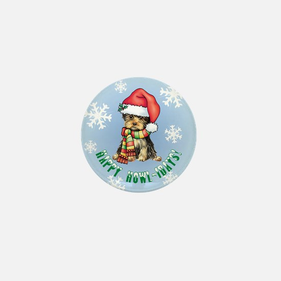 Holiday Yorkie Mini Button