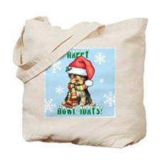 Holiday Yorkie Tote Bag