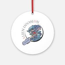 Alien Invasion Ornament (Round)