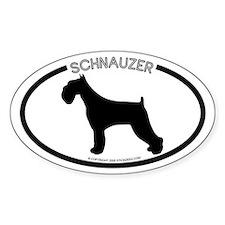 """Schnauzer"" White Oval Decal"