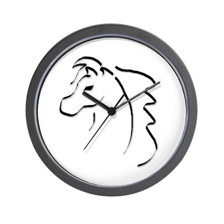 Horse Calligraphy Wall Clock