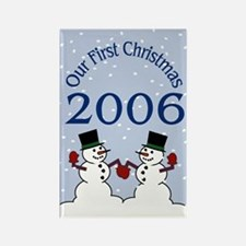 Gay First Christmas 2006 Rectangle Magnet