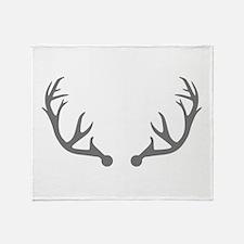 Deer antlers Throw Blanket