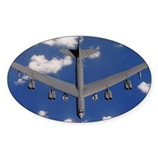 Military bomber in flight Decal