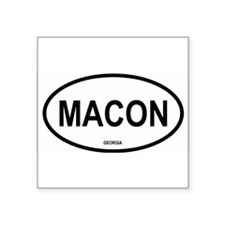 Macon Oval Sticker