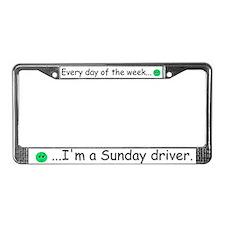 Sunday Driver License Plate Frame