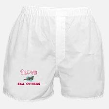 I Love Sea Otters Boxer Shorts