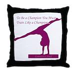 Gymnastics Throw Pillow - Champ