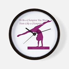 Gymnastics Wall Clock - Champ