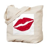 Lips Canvas Totes