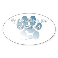 Beagle Grandchildren Oval Decal