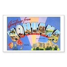 Montana Greetings Rectangle Decal
