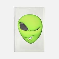 Funny Winking Alien Rectangle Magnet