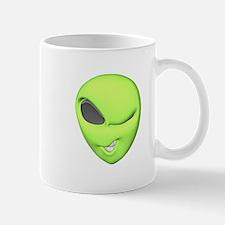 Funny Winking Alien Mug