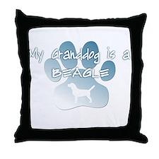 Beagle Granddog Throw Pillow