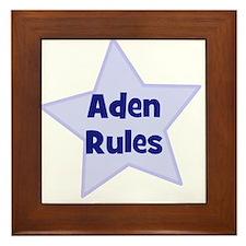 Aden Rules Framed Tile