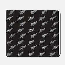 Silver fern tattoo pattern New Zealand k Mousepad