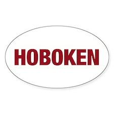 Hoboken Oval Decal