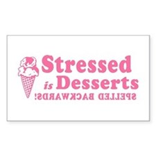 Stressed is Desserts Rectangle Decal