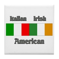 Italian Irish American Tile Coaster