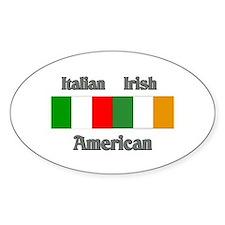 Italian Irish American Oval Decal