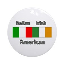 Italian Irish American Ornament (Round)