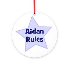 Aidan Rules Ornament (Round)