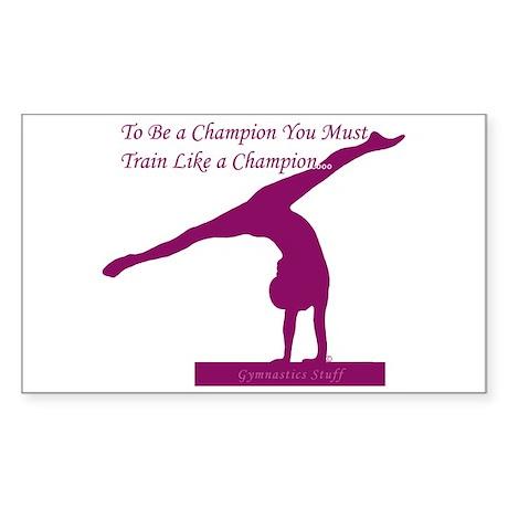 Gymnastics Sticker - Champion
