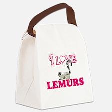 I Love Lemurs Canvas Lunch Bag