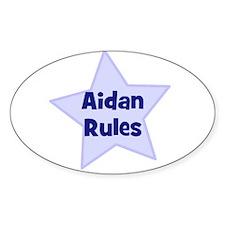 Aidan Rules Oval Decal