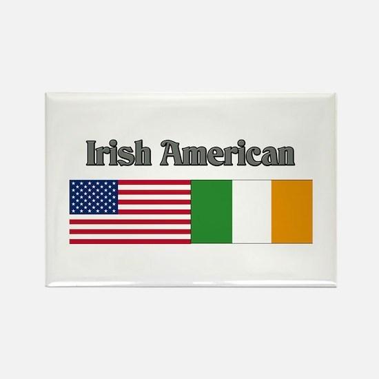 Irish American Rectangle Magnet