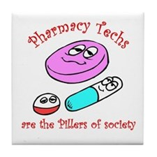 Pillers of society Tile Coaster