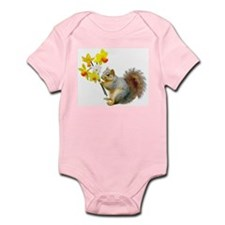 Squirrel Daffodils Infant Bodysuit