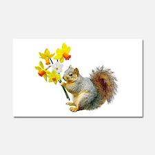 Squirrel Daffodils Car Magnet 20 x 12