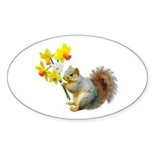 Squirrel Daffodils Decal