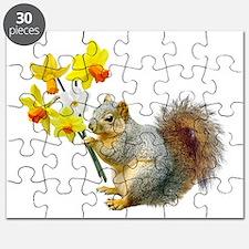 Squirrel Daffodils Puzzle