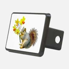 Squirrel Daffodils Hitch Cover