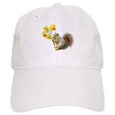 Squirrel Daffodils Baseball Cap