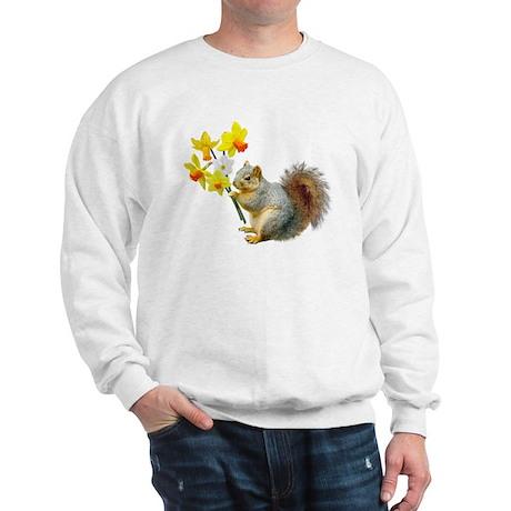 Squirrel Daffodils Sweatshirt