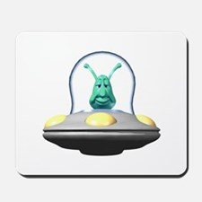 3d Alien In Ufo Mousepad