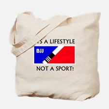 BJJ lifestyle black lettering Tote Bag