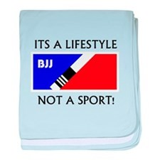 BJJ lifestyle black lettering baby blanket