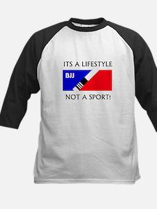 BJJ lifestyle black lettering Baseball Jersey