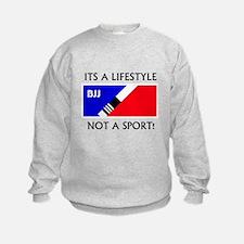 BJJ lifestyle black lettering Sweatshirt