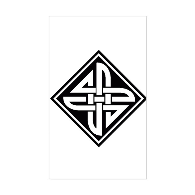 Celtic Knot 2 Rectangle Decal by bobbis_book