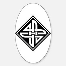 Celtic Knot 2 Oval Decal